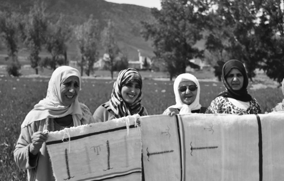 Some of the Berber women employed by the company